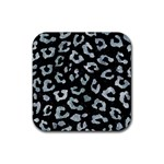 SKIN5 BLACK MARBLE & ICE CRYSTALS Rubber Square Coaster (4 pack)