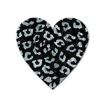 SKIN5 BLACK MARBLE & ICE CRYSTALS Heart Magnet