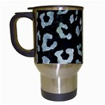 SKIN5 BLACK MARBLE & ICE CRYSTALS Travel Mugs (White)