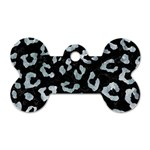 SKIN5 BLACK MARBLE & ICE CRYSTALS Dog Tag Bone (Two Sides)