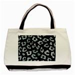 SKIN5 BLACK MARBLE & ICE CRYSTALS Basic Tote Bag (Two Sides)