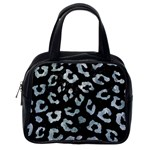 SKIN5 BLACK MARBLE & ICE CRYSTALS Classic Handbags (One Side)