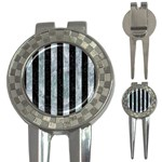STRIPES1 BLACK MARBLE & ICE CRYSTALS 3-in-1 Golf Divots