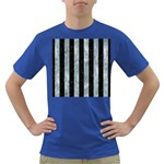 STRIPES1 BLACK MARBLE & ICE CRYSTALS Dark T-Shirt