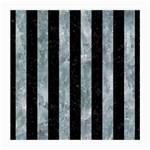STRIPES1 BLACK MARBLE & ICE CRYSTALS Medium Glasses Cloth