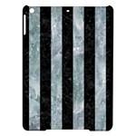 STRIPES1 BLACK MARBLE & ICE CRYSTALS iPad Air Hardshell Cases