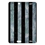 STRIPES1 BLACK MARBLE & ICE CRYSTALS Amazon Kindle Fire HD (2013) Hardshell Case