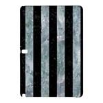 STRIPES1 BLACK MARBLE & ICE CRYSTALS Samsung Galaxy Tab Pro 12.2 Hardshell Case