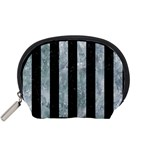 STRIPES1 BLACK MARBLE & ICE CRYSTALS Accessory Pouches (Small)