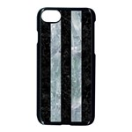 STRIPES1 BLACK MARBLE & ICE CRYSTALS Apple iPhone 7 Seamless Case (Black)