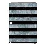 STRIPES2 BLACK MARBLE & ICE CRYSTALS Samsung Galaxy Tab Pro 10.1 Hardshell Case