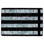 STRIPES2 BLACK MARBLE & ICE CRYSTALS iPad Air Flip