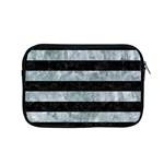 STRIPES2 BLACK MARBLE & ICE CRYSTALS Apple MacBook Pro 15  Zipper Case