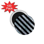 STRIPES3 BLACK MARBLE & ICE CRYSTALS 1.75  Magnets (100 pack)