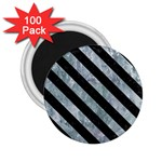 STRIPES3 BLACK MARBLE & ICE CRYSTALS 2.25  Magnets (100 pack)