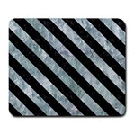 STRIPES3 BLACK MARBLE & ICE CRYSTALS Large Mousepads