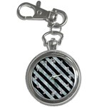 STRIPES3 BLACK MARBLE & ICE CRYSTALS Key Chain Watches