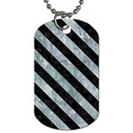 STRIPES3 BLACK MARBLE & ICE CRYSTALS Dog Tag (One Side)