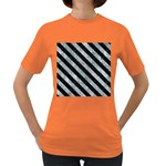 STRIPES3 BLACK MARBLE & ICE CRYSTALS Women s Dark T-Shirt