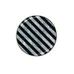 STRIPES3 BLACK MARBLE & ICE CRYSTALS Hat Clip Ball Marker (4 pack)