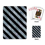 STRIPES3 BLACK MARBLE & ICE CRYSTALS Playing Card