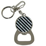 STRIPES3 BLACK MARBLE & ICE CRYSTALS Button Necklaces