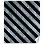 STRIPES3 BLACK MARBLE & ICE CRYSTALS Canvas 8  x 10
