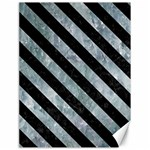 STRIPES3 BLACK MARBLE & ICE CRYSTALS Canvas 18  x 24