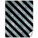 STRIPES3 BLACK MARBLE & ICE CRYSTALS Canvas 36  x 48
