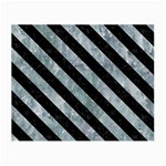 STRIPES3 BLACK MARBLE & ICE CRYSTALS Small Glasses Cloth (2-Side)