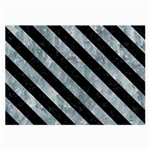 STRIPES3 BLACK MARBLE & ICE CRYSTALS Large Glasses Cloth (2-Side)