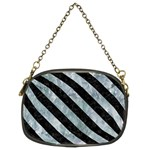 STRIPES3 BLACK MARBLE & ICE CRYSTALS Chain Purses (Two Sides)
