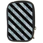 STRIPES3 BLACK MARBLE & ICE CRYSTALS Compact Camera Cases