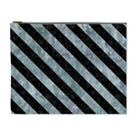 STRIPES3 BLACK MARBLE & ICE CRYSTALS Cosmetic Bag (XL)
