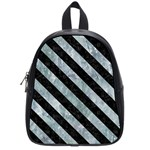 STRIPES3 BLACK MARBLE & ICE CRYSTALS School Bag (Small)