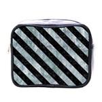 STRIPES3 BLACK MARBLE & ICE CRYSTALS Mini Toiletries Bags