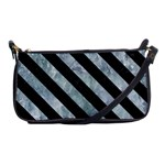 STRIPES3 BLACK MARBLE & ICE CRYSTALS Shoulder Clutch Bags