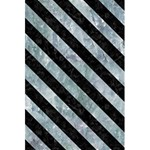 STRIPES3 BLACK MARBLE & ICE CRYSTALS 5.5  x 8.5  Notebooks