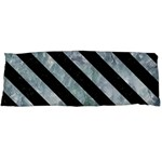 STRIPES3 BLACK MARBLE & ICE CRYSTALS Body Pillow Case Dakimakura (Two Sides)