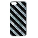 STRIPES3 BLACK MARBLE & ICE CRYSTALS Apple Seamless iPhone 5 Case (Clear)