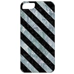 STRIPES3 BLACK MARBLE & ICE CRYSTALS Apple iPhone 5 Classic Hardshell Case