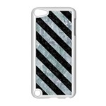 STRIPES3 BLACK MARBLE & ICE CRYSTALS Apple iPod Touch 5 Case (White)