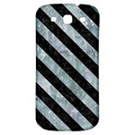 STRIPES3 BLACK MARBLE & ICE CRYSTALS Samsung Galaxy S3 S III Classic Hardshell Back Case