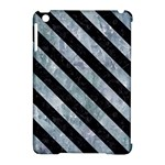 STRIPES3 BLACK MARBLE & ICE CRYSTALS Apple iPad Mini Hardshell Case (Compatible with Smart Cover)