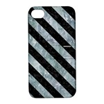 STRIPES3 BLACK MARBLE & ICE CRYSTALS Apple iPhone 4/4S Hardshell Case with Stand