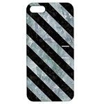 STRIPES3 BLACK MARBLE & ICE CRYSTALS Apple iPhone 5 Hardshell Case with Stand