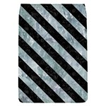 STRIPES3 BLACK MARBLE & ICE CRYSTALS Flap Covers (S)
