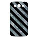 STRIPES3 BLACK MARBLE & ICE CRYSTALS Samsung Galaxy Mega 5.8 I9152 Hardshell Case