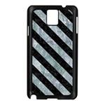 STRIPES3 BLACK MARBLE & ICE CRYSTALS Samsung Galaxy Note 3 N9005 Case (Black)