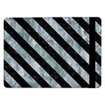 STRIPES3 BLACK MARBLE & ICE CRYSTALS Samsung Galaxy Tab Pro 12.2  Flip Case